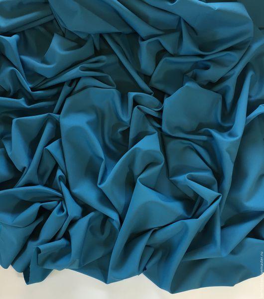 Шитье ручной работы. Ярмарка Мастеров - ручная работа. Купить Хлопковая костюмная ткань. Handmade. Тёмно-бирюзовый, 54% хлопок