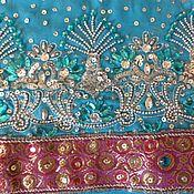 Одежда ручной работы. Ярмарка Мастеров - ручная работа Бирюзовая туника -платье -камиз -вышивка -ручная работа -Индия. Handmade.