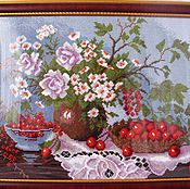 Картины и панно ручной работы. Ярмарка Мастеров - ручная работа Натюрморт с ягодами. Handmade.