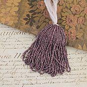 Бисер ручной работы. Ярмарка Мастеров - ручная работа Антикварный коллекционный бисер из металла, граненый, цвет лиловый. Handmade.