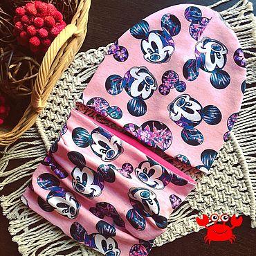 Одежда ручной работы. Ярмарка Мастеров - ручная работа Комплекты ШАПКА+СНУД для девочек в наличии и на заказ. Handmade.