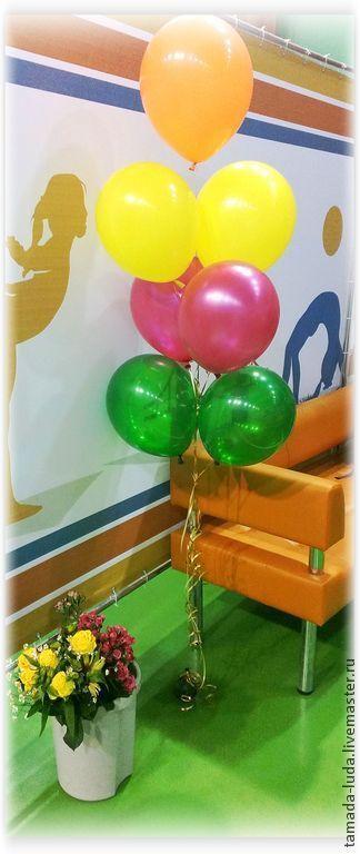 Оформление воздушными шарами. Напольные композиции из шаров № 2
