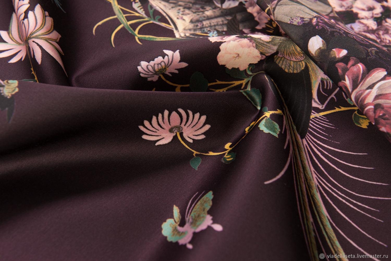 Шитье ручной работы. Ярмарка Мастеров - ручная работа. Купить Плательно-костюмный сатен (Giambattista Valli). Handmade. Цветы, шорты