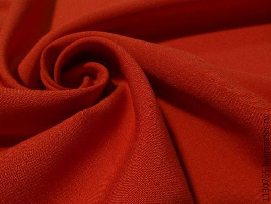Шитье ручной работы. Ярмарка Мастеров - ручная работа. Купить Ткань габардин алый. Handmade. Ярко-красный, ткани для рукоделия