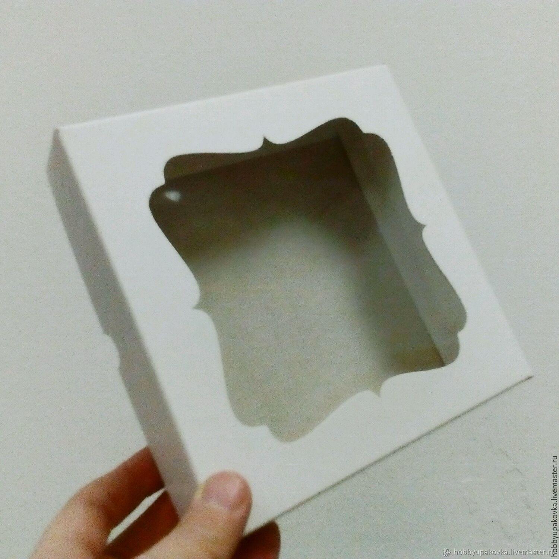 Кашпо ручной работы. Ярмарка Мастеров - ручная работа. Купить Коробка белая 16х16х3,5 см упаковка. Handmade.