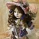 Коллекционные куклы ручной работы. Заказать Элис. Mарина Комадей. Ярмарка Мастеров. Фарфоровая кукла, текстиль