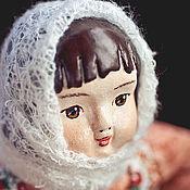 Коллекционная кукла паперклей, текстиль Аленушка