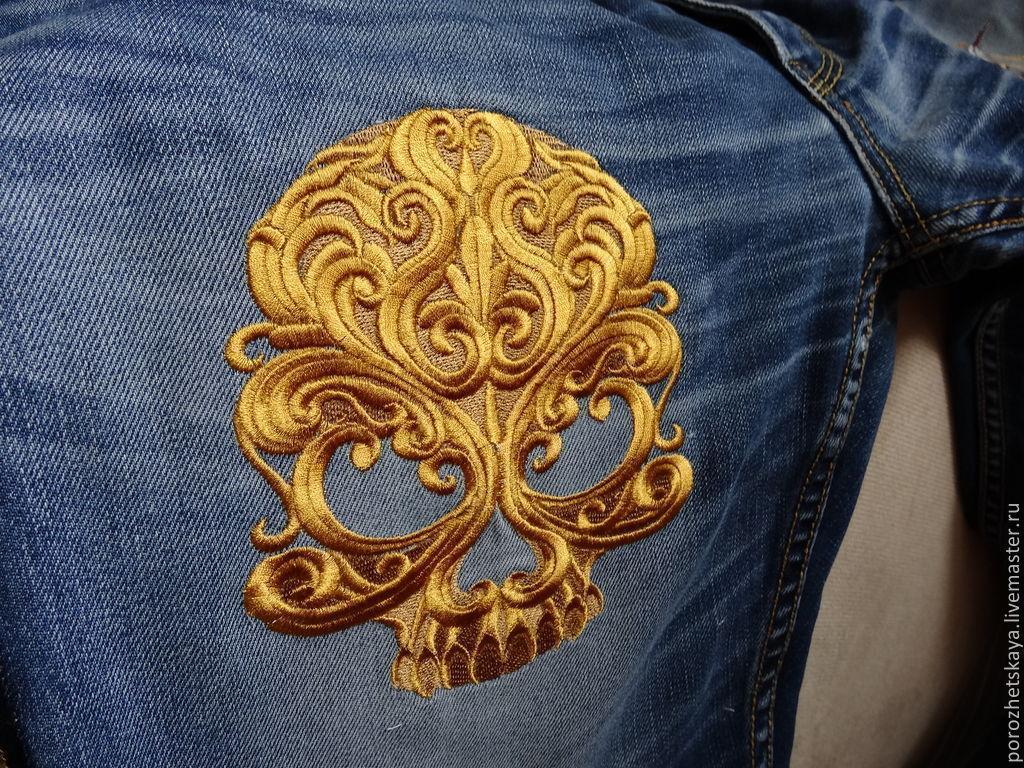 Вышивки на одежду золотом