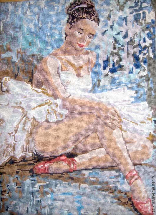 """Люди, ручной работы. Ярмарка Мастеров - ручная работа. Купить Картина вышитая """"Балерина"""". Handmade. Разноцветный, вышивка, Вышитая картина"""