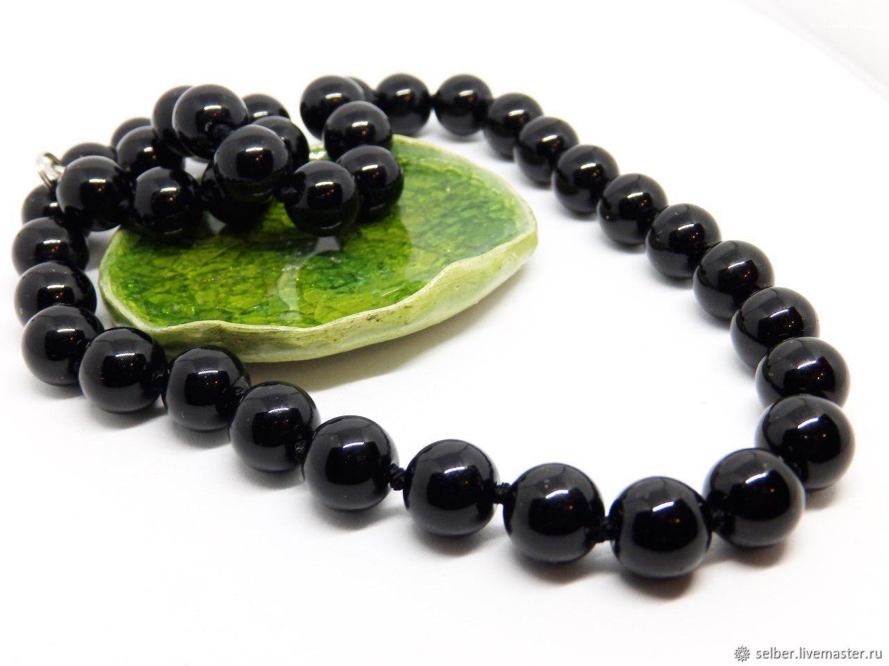 Beads of black obsidian Night, Beads2, Gatchina,  Фото №1