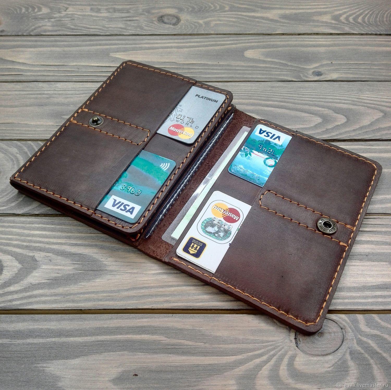 Бумажник под паспорт и автодокументы, Кошельки, Новосибирск,  Фото №1