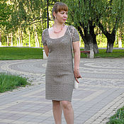 Одежда handmade. Livemaster - original item Dress knit panel lace Irish lace Wing butterfly. Handmade.