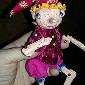 Куклы и игрушки ручной работы. Ярмарка Мастеров - ручная работа Подвижная кукла Буратинка. Handmade.