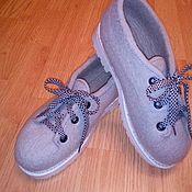 Ботинки ручной работы. Ярмарка Мастеров - ручная работа Ботинки валяные не высокие. Handmade.