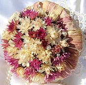 """Цветы и флористика ручной работы. Ярмарка Мастеров - ручная работа """"Белая сирень""""- букет из сухоцветов. Handmade."""