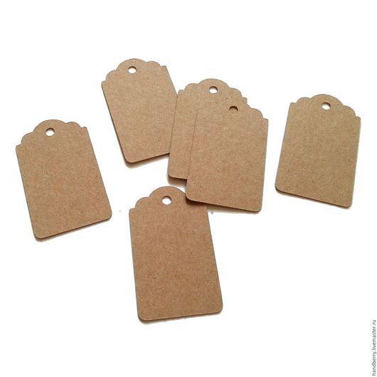 Упаковка ручной работы. Ярмарка Мастеров - ручная работа. Купить Крафт бирки Тег 5 х 3 см. Handmade.