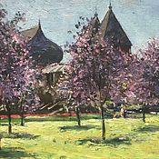 Картины и панно ручной работы. Ярмарка Мастеров - ручная работа Весна в саду.. Handmade.