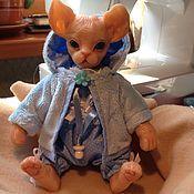 Куклы и игрушки ручной работы. Ярмарка Мастеров - ручная работа Ася. Котенок Сфинкс. Handmade.