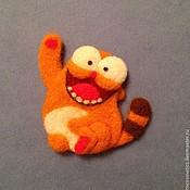 Куклы и игрушки ручной работы. Ярмарка Мастеров - ручная работа Брошка - котик). Handmade.