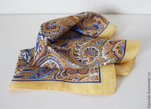 Шарфы и шарфики ручной работы. Ярмарка Мастеров - ручная работа. Купить Шейный шелковый платок Пейсли. Handmade. Комбинированный