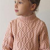 """Работы для детей, ручной работы. Ярмарка Мастеров - ручная работа Мериносовый свитер для девочки """"Араны"""". Handmade."""