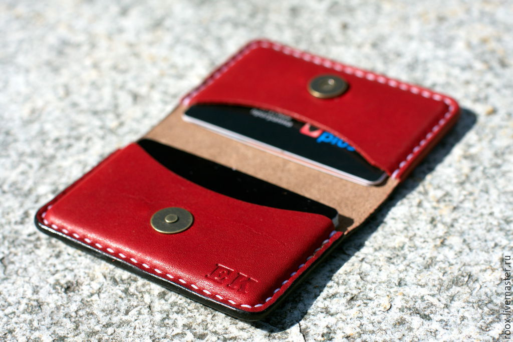 Business card holder, image from Horween leather ( card case ...