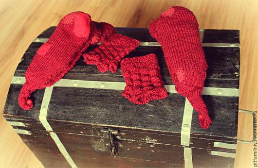 Обувь ручной работы. Ярмарка Мастеров - ручная работа. Купить Старенькие эльфийские носочки :). Handmade. Носочки вязаные