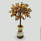 Цветы и флористика handmade. Livemaster - original item Tree of wishes from the amber vase of onyx. Handmade.