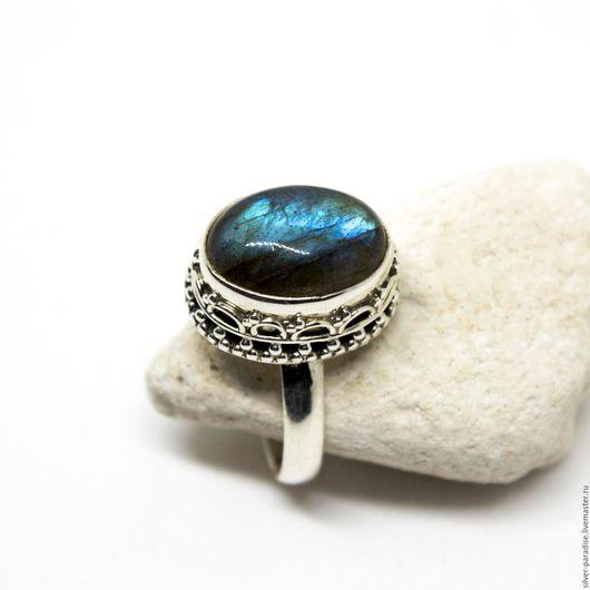 """Кольца ручной работы. Ярмарка Мастеров - ручная работа. Купить Серебряное кольцо с лабрадором """"Таинственная незнакомка"""" серебро 925. Handmade."""