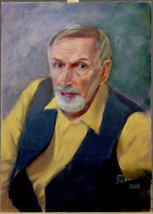 Люди, ручной работы. Ярмарка Мастеров - ручная работа. Купить Портрет Анатолия. Handmade. Комбинированный, портрет в подарок, заказать портрет