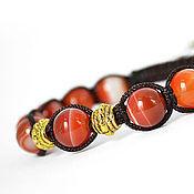 Украшения handmade. Livemaster - original item Shamballa bracelet with onyx. Handmade.