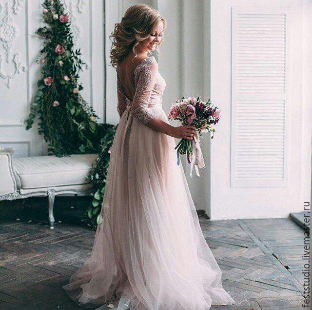 Платья кружевное фатин