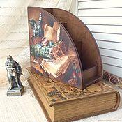 Карандашницы ручной работы. Ярмарка Мастеров - ручная работа Подарок учителю настольный органайзер. Handmade.