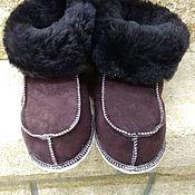 Обувь ручной работы handmade. Livemaster - original item Baby fur socks. Handmade.