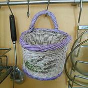 Для дома и интерьера handmade. Livemaster - original item Round fancy basket