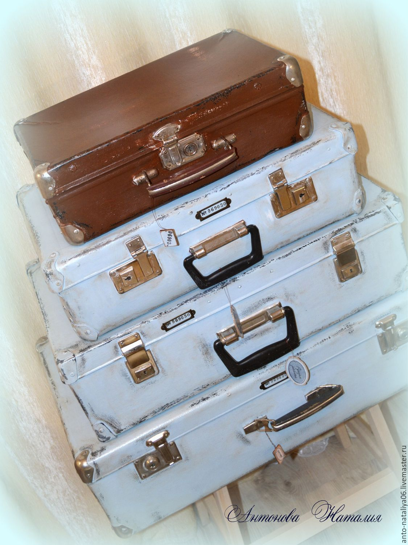 """Чемоданы ручной работы. Ярмарка Мастеров - ручная работа. Купить Чемоданы """"Лофт"""" (10). Handmade. Серый, декор чемодана, чемодан"""