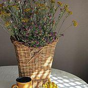 Для дома и интерьера ручной работы. Ярмарка Мастеров - ручная работа Кашпо, корзинка настенная для сухоцветов. Handmade.