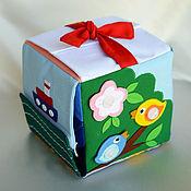 """Куклы и игрушки ручной работы. Ярмарка Мастеров - ручная работа Развивающий кубик """"застёжки"""". Handmade."""