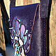 Женские сумки ручной работы. Ярмарка Мастеров - ручная работа. Купить Сумка Ночной цветок. Handmade. Тёмно-фиолетовый
