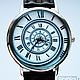 """Часы ручной работы. Ярмарка Мастеров - ручная работа. Купить Часы наручные JK """"Спираль 2"""". Handmade. Белый, часы"""