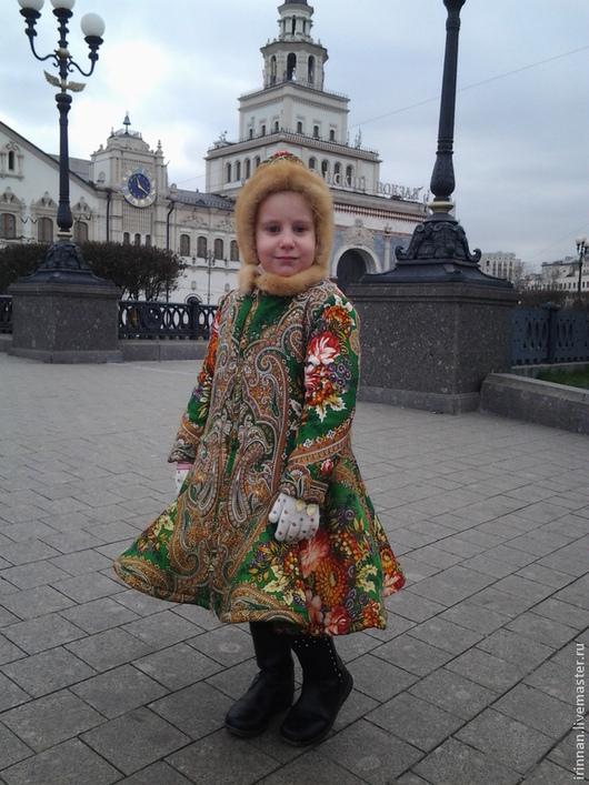 Одежда для девочек, ручной работы. Ярмарка Мастеров - ручная работа. Купить Детское пальто  Александра. Handmade. Цветочный, работа для детей