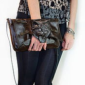 Accessories handmade. Livemaster - original item Leather bag in the style of Steampunk. Unusual gift girl. Handmade.