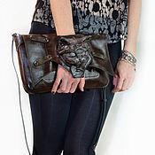Субкультуры handmade. Livemaster - original item Leather bag in the style of Steampunk. Unusual gift girl. Handmade.