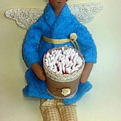Для дома и интерьера ручной работы. Ярмарка Мастеров - ручная работа Банная фея. Хранительница ватных палочек. Handmade.