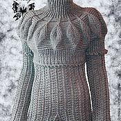 """Одежда ручной работы. Ярмарка Мастеров - ручная работа Вязаный свитер """"Эра Дракона - Графит"""". Handmade."""