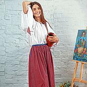 Одежда ручной работы. Ярмарка Мастеров - ручная работа Юбка в полоску. Handmade.