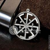 Русский стиль ручной работы. Ярмарка Мастеров - ручная работа Подвески с обережными символами из серебра. Handmade.