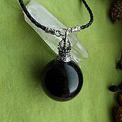 Фен-шуй и эзотерика handmade. Livemaster - original item Pendant with a ball of Morion. Handmade.