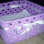 Для дома и интерьера ручной работы. Ярмарка Мастеров - ручная работа Вязаная коробочка. Handmade.