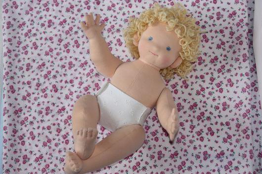 Вальдорфская игрушка ручной работы. Ярмарка Мастеров - ручная работа. Купить Малышка,42 см.. Handmade. Бирюзовый, кукла в подарок